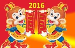 Lịch nghỉ tết Bính Thân 2016